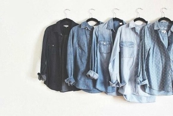 blue shirt jeans points jean shirts
