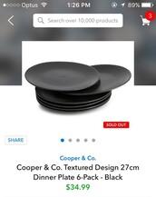 home accessory,dinnerware,black