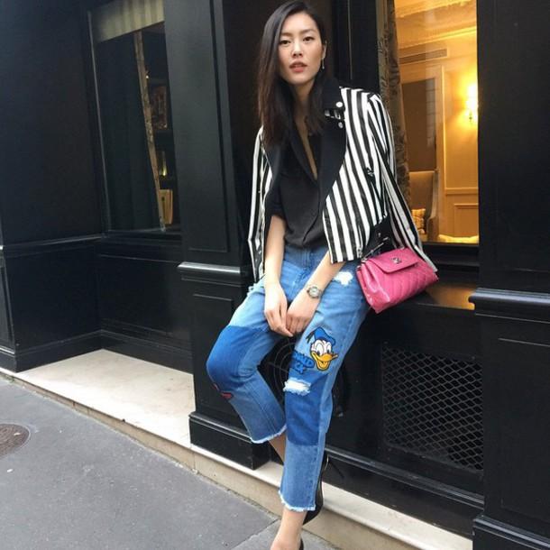 jeans liu wen denim style