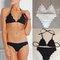 Women's clothing solid color triangle bikini