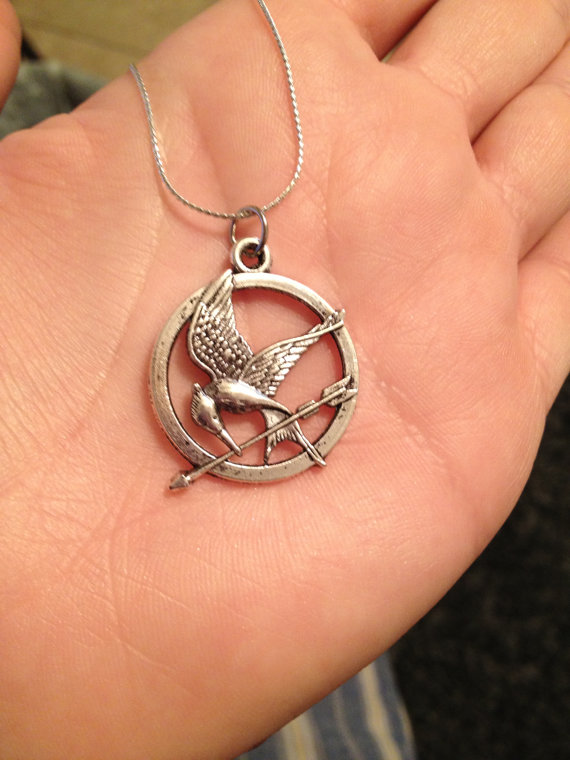 Hunger games inspired mockingjay necklace by agneselizabeth