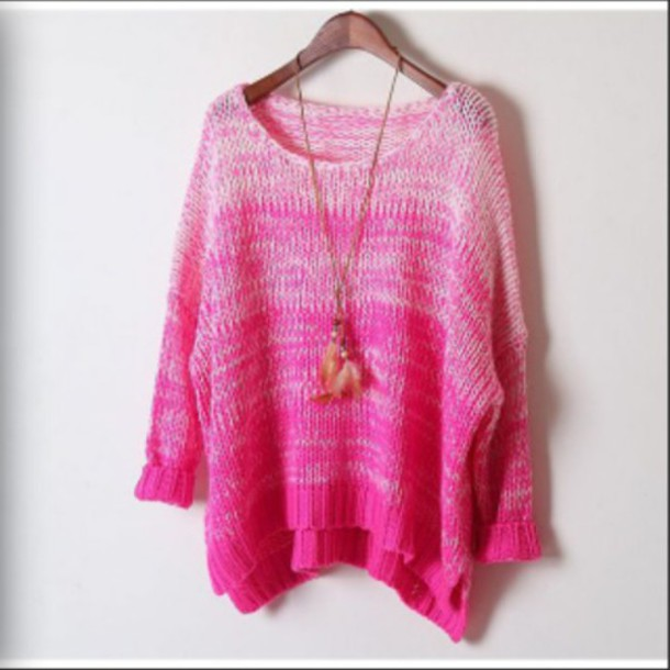 sweater pink sweater pink knitted sweater