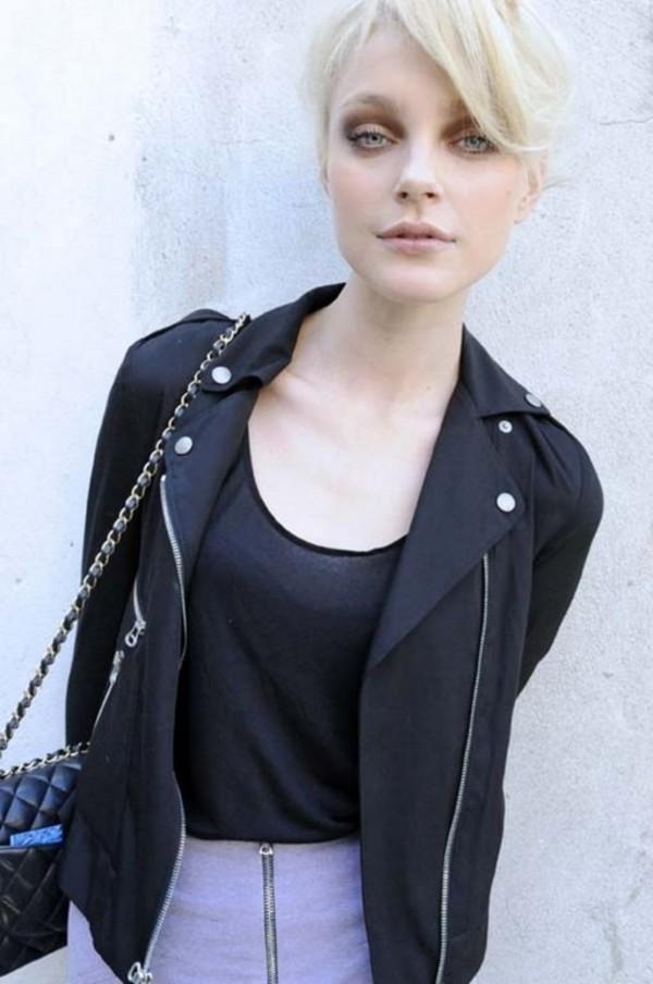 leather perfecto jessica stam black jacket jacket