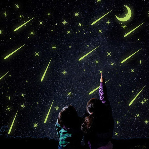 Creative Meteor Shower Night Sky Ceiling Bedroom Decoration Glow Wall Stickers