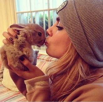 hat cara delevingne beanie bunny easter