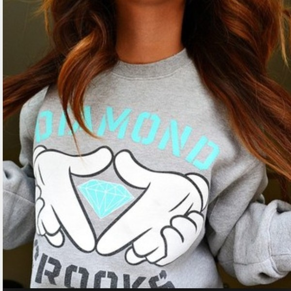 sweater diamond supply co. diamond crooks sweatshirt girl
