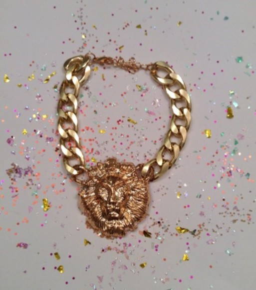jewels charm bracelet bracelet jewelry bracelets gold tumblr gold bracelets gold jewelry gold chains lion lion head lionhead lion necklace lion face fashion jewelry instagram instagramfashion instagram fashion instagood twitter