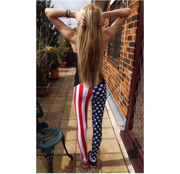 usa pants flag leggings