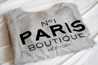 t-shirt new york city paris shirt no1 sweater grey paris sweater grey