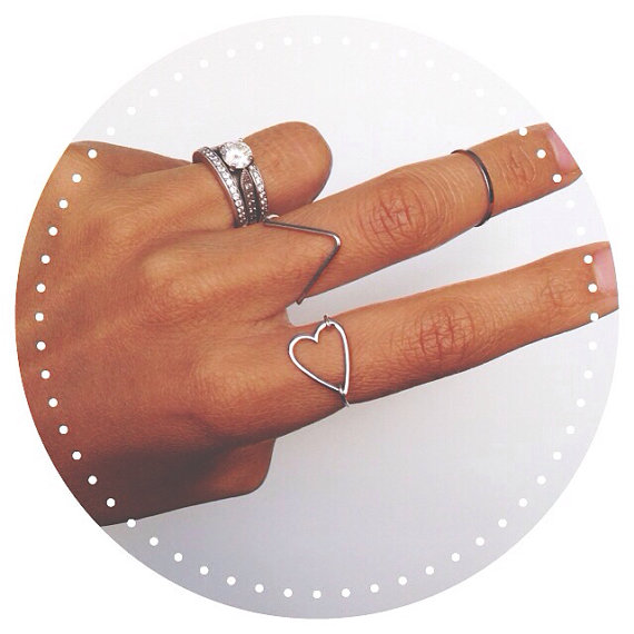 heart ring // gold or silver by gigglosophy on Etsy