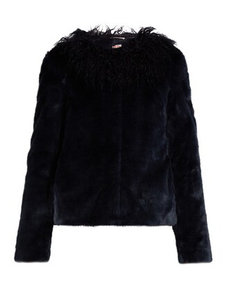 jacket fur jacket fur navy