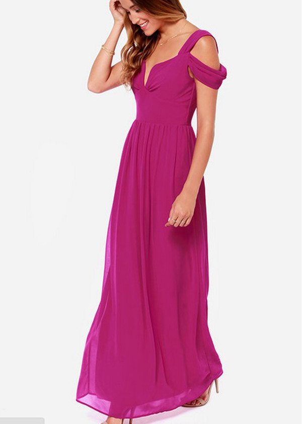 maxi dress chiffon dress off the shoulder dress