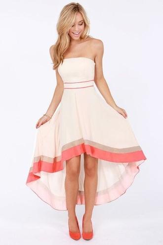 dress white dress strapless dress striped dress