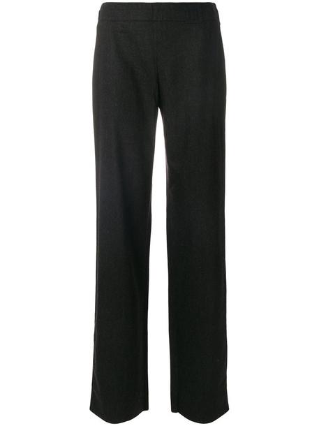 Armani Collezioni women spandex wool grey pants