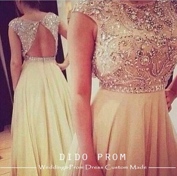 Custom Made Beaded Bodice Prom DressChiffon Prom by DidoProm
