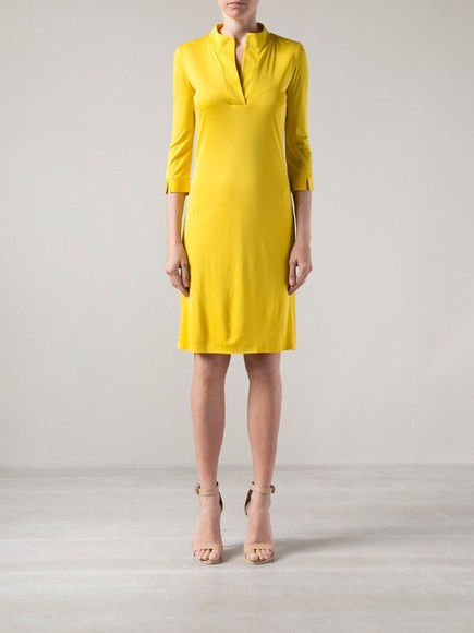 yellow dress maison martin margiela shift dress yellow dress