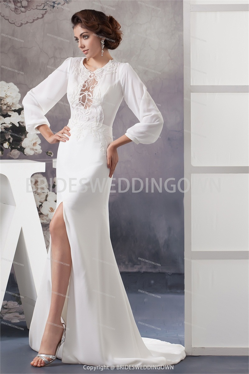 Buy 2014 white wedding dress floor length for Wedding dress appliques suppliers