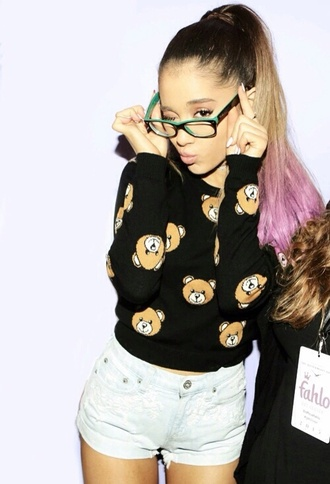 sweater ariana grande cute bear