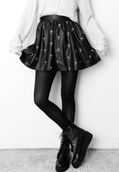 skirt,black,white,cross,short,beautiful