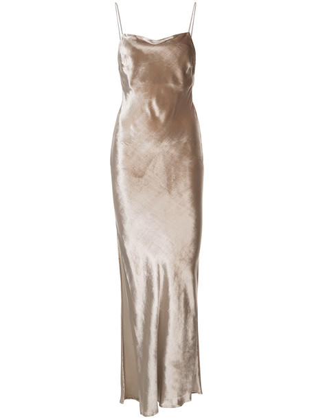Fleur du Mal dress women nude silk