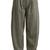 Wide tapered-leg wool-blend herringbone trousers