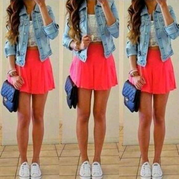 denim jacket skirt jacket