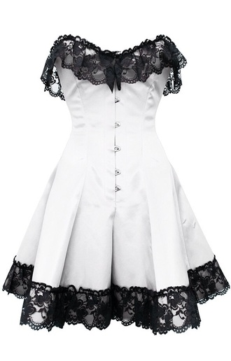 dress corset dress lace dress white dress black and white dress corset top