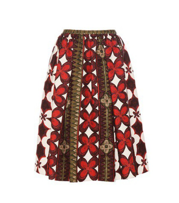 Valentino Wool And Silk Printed Skirt