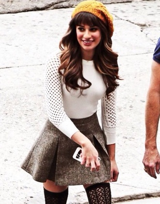 top white glee long sleeves this is quinn in glee! skirt