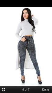 plus size,asymmetrical,top,high low dress,high heels,jeans