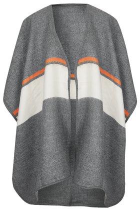 Block striped cape