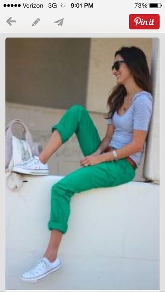 pants green pants
