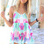 Multi Jump Suits/Rompers - Multi-Colored Printed Playsuit with V-Neck | UsTrendy
