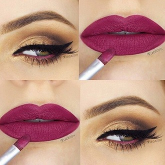 make-up pin red lipstick lips