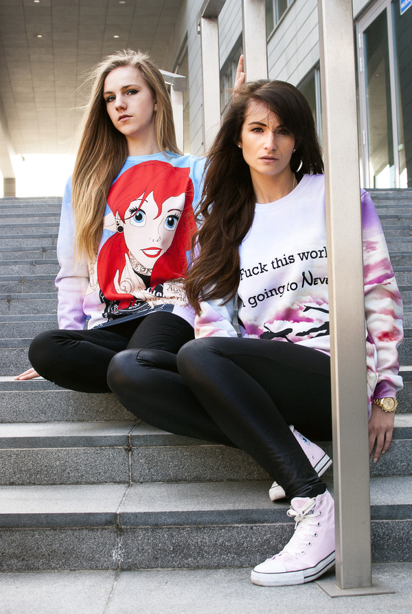 blouse disney disney disney punk the little mermaid swag galaxy print hipster hipster punk punk neverland sweatshirt