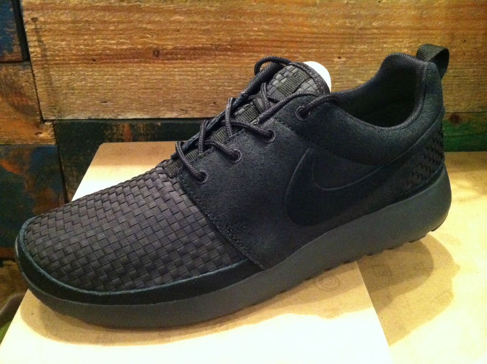 New Nike Rosherun Roshe Run Woven WVN Black Mens Sportswear Shoes 555602 001 | eBay
