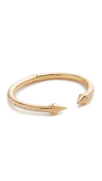Vita Fede Mini Titan Side Surf Bracelet - Gold/Clear