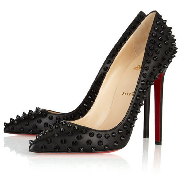 shoes christian louboutin pumps christian louboutin sale black christian louboutin pigalle spikes 120 studded leather pumps black