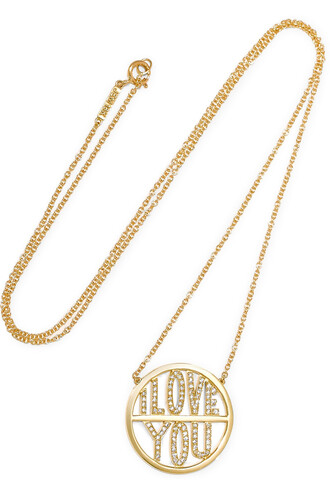 love i love you necklace diamond necklace gold jewels
