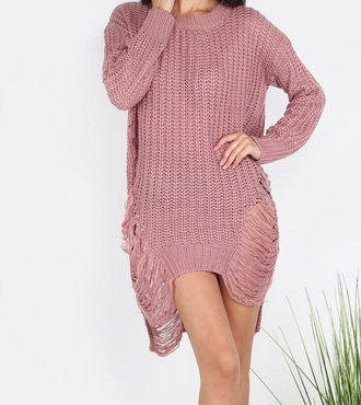 dress girly girl girly wishlist pink pink dress sweater sweater dress knitwear knitted sweater knit trendy cute fall sweater fall colors