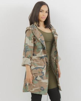 jacket anorak anorak jacket camo jacket flyjane camouflage