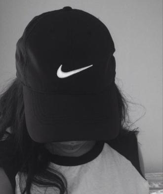 hat black nike cute fashion