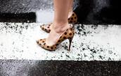 garance dore,shoes,polka dots,camel,black,high heels