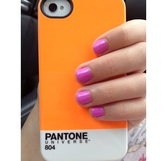 nail polish iphone phone cover orange iphone case nice