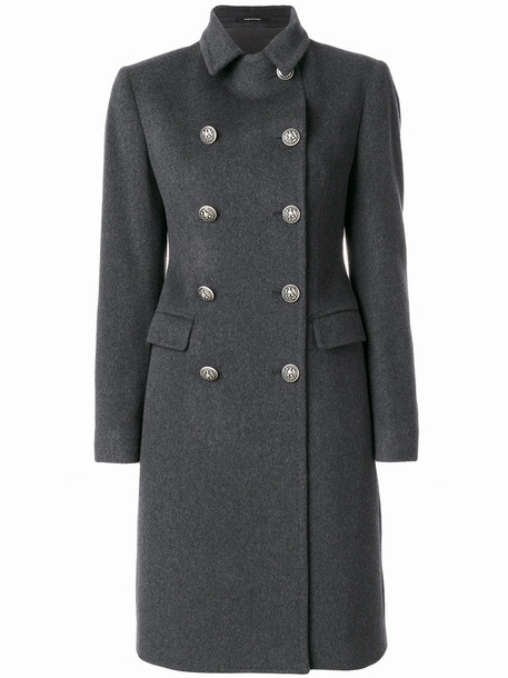 TAGLIATORE coat double breasted women wool grey
