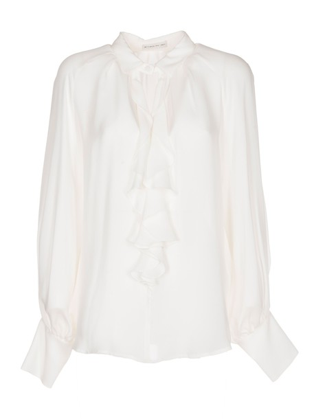 ETRO blouse ruffle white top