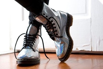 shoes kawaii japan japanese fashion holographic fairy kei boots combat boots grunge soft grunge pastel pale grunge dark grunge kawaii grunge pastel goth alternative hipster indie scene emo goth tumblr doc martins