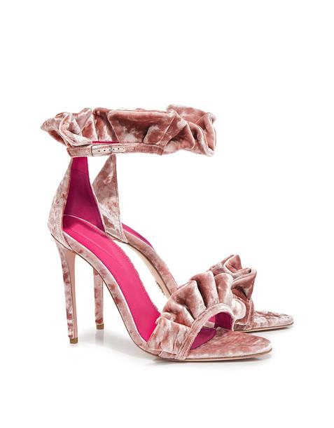 Oscar Tiye velvet sandals sandals velvet pink shoes