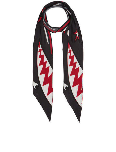 Rockins shark scarf black silk