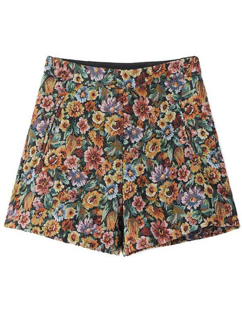 Shorts Brendashop Floral High Waisted High Waisted Shorts Beauteous High Waisted Shorts Pattern